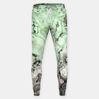 Thumbnail image of grey and green marble abstract digital painting Sweatpants, Live Heroes