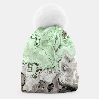 Thumbnail image of grey and green marble abstract digital painting Beanie, Live Heroes