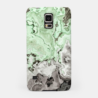 Thumbnail image of grey and green marble abstract digital painting Samsung Case, Live Heroes