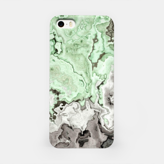 Thumbnail image of grey and green marble abstract digital painting iPhone Case, Live Heroes