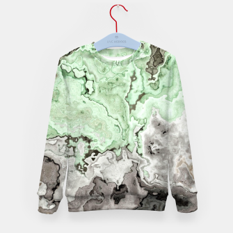 Thumbnail image of grey and green marble abstract digital painting Kid's sweater, Live Heroes
