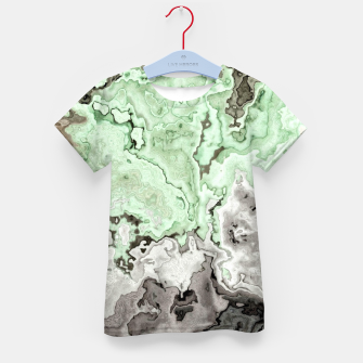 Thumbnail image of grey and green marble abstract digital painting Kid's t-shirt, Live Heroes