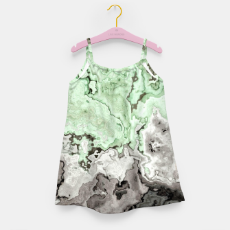 Thumbnail image of grey and green marble abstract digital painting Girl's dress, Live Heroes