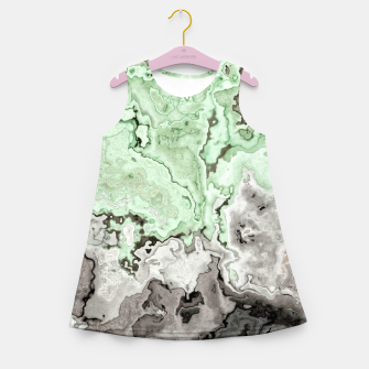 Thumbnail image of grey and green marble abstract digital painting Girl's summer dress, Live Heroes