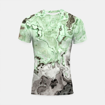 Thumbnail image of grey and green marble abstract digital painting Shortsleeve rashguard, Live Heroes