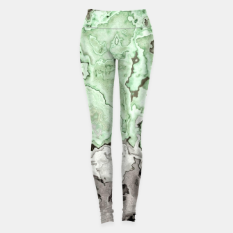 Thumbnail image of grey and green marble abstract digital painting Leggings, Live Heroes