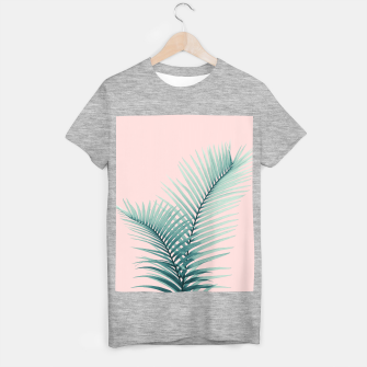 Thumbnail image of Intertwined - Palm Leaves in Love #2 #tropical #decor #art T-Shirt regulär, Live Heroes