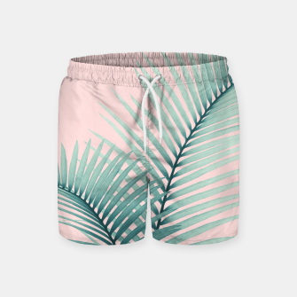 Thumbnail image of Intertwined - Palm Leaves in Love #2 #tropical #decor #art Badeshorts, Live Heroes