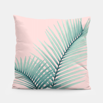 Thumbnail image of Intertwined - Palm Leaves in Love #2 #tropical #decor #art Kissen, Live Heroes