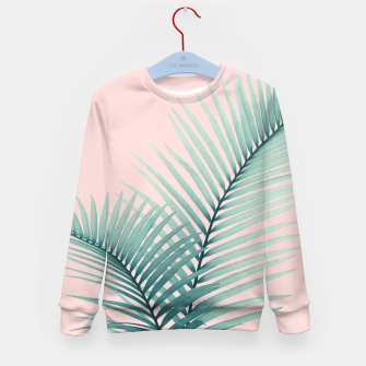 Thumbnail image of Intertwined - Palm Leaves in Love #2 #tropical #decor #art Kindersweatshirt, Live Heroes