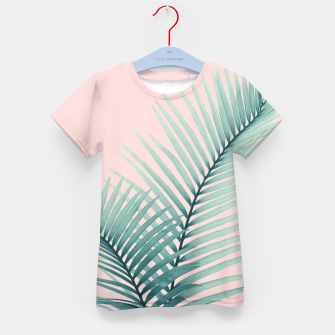 Thumbnail image of Intertwined - Palm Leaves in Love #2 #tropical #decor #art T-Shirt für kinder, Live Heroes