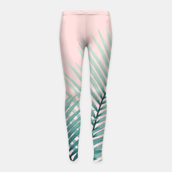 Thumbnail image of Intertwined - Palm Leaves in Love #2 #tropical #decor #art Kinder-Leggins, Live Heroes
