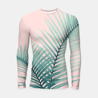 Thumbnail image of Intertwined - Palm Leaves in Love #2 #tropical #decor #art Longsleeve rashguard, Live Heroes
