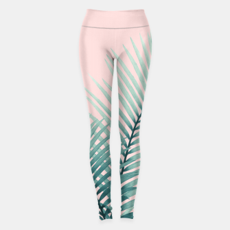 Thumbnail image of Intertwined - Palm Leaves in Love #2 #tropical #decor #art Leggings, Live Heroes