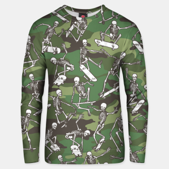 Thumbnail image of Grim Ripper Skater Camo WOODLAND GREEN Unisex sweater, Live Heroes