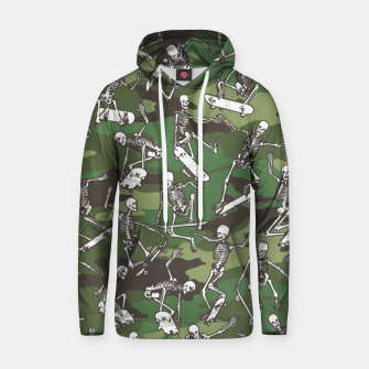 Thumbnail image of Grim Ripper Skater Camo WOODLAND GREEN Hoodie, Live Heroes