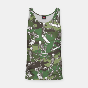 Thumbnail image of Grim Ripper Skater Camo WOODLAND GREEN Tank Top, Live Heroes
