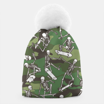 Thumbnail image of Grim Ripper Skater Camo WOODLAND GREEN Beanie, Live Heroes