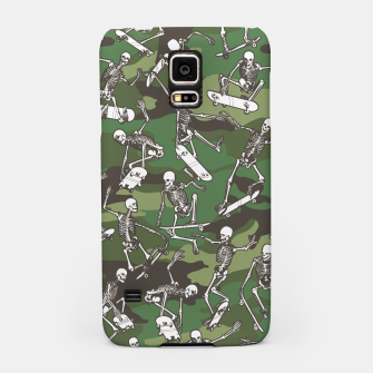 Thumbnail image of Grim Ripper Skater Camo WOODLAND GREEN Samsung Case, Live Heroes