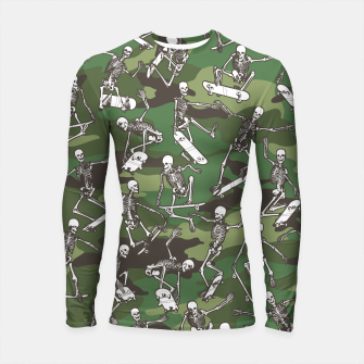 Thumbnail image of Grim Ripper Skater Camo WOODLAND GREEN Longsleeve rashguard , Live Heroes