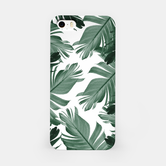 Miniaturka Tropical Banana Leaves Pattern #3 #tropical #decor #art iPhone-Hülle, Live Heroes