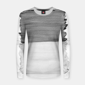 Thumbnail image of Gray Black White Abstract Minimalism #1 #minimal #ink #decor #art Frauen sweatshirt, Live Heroes