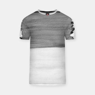 Thumbnail image of Gray Black White Abstract Minimalism #1 #minimal #ink #decor #art T-Shirt, Live Heroes
