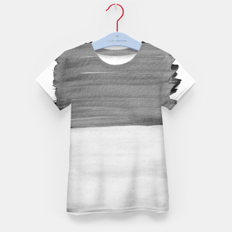 Thumbnail image of Gray Black White Abstract Minimalism #1 #minimal #ink #decor #art T-Shirt für kinder, Live Heroes
