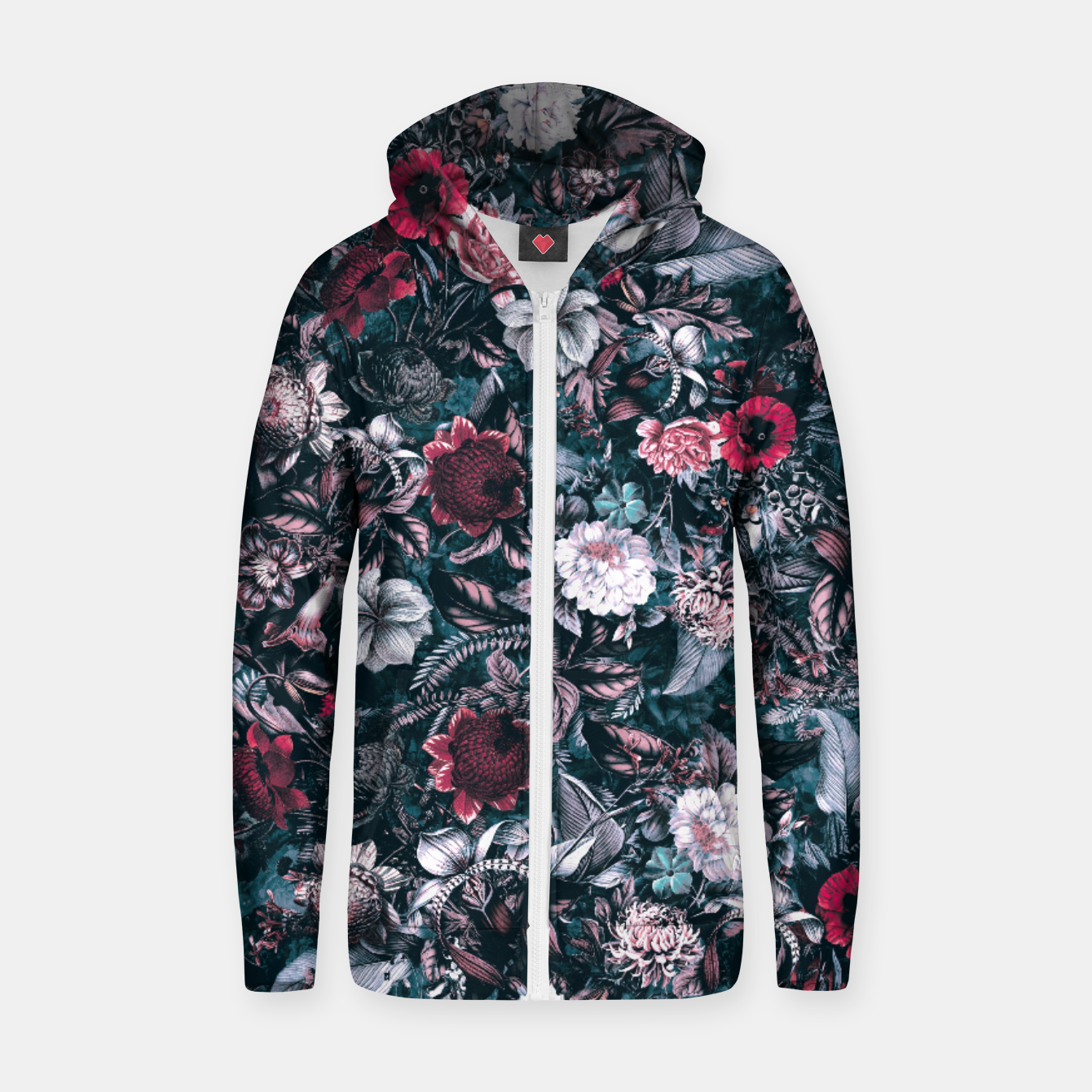 Image of Blue Garden Zip up hoodie - Live Heroes