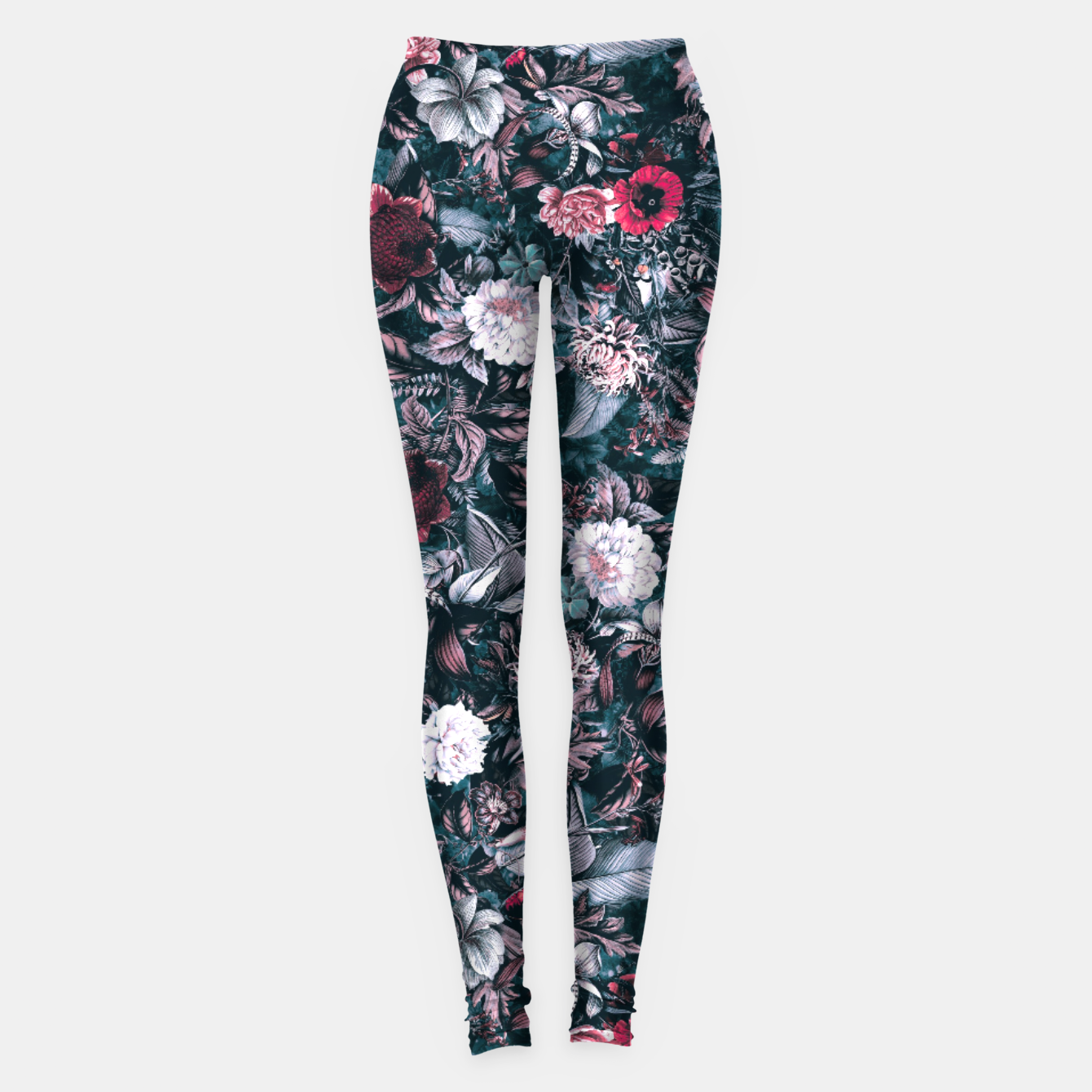 Image of Blue Garden Leggings - Live Heroes