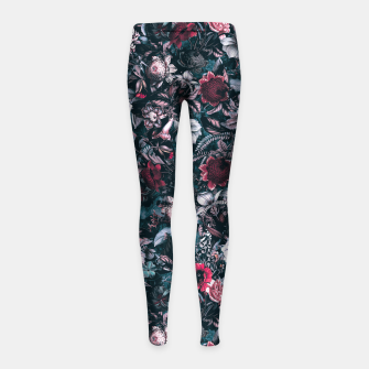 Blue Garden Girl's leggings Bild der Miniatur