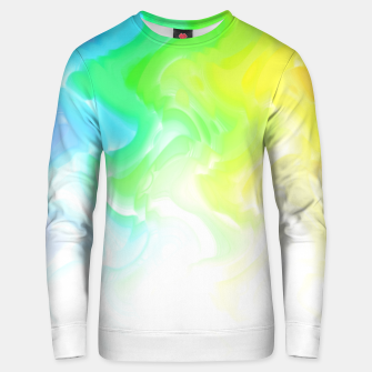 Thumbnail image of Rainbow smoke falling down, positive energy colorful pattern glitch Unisex sweater, Live Heroes