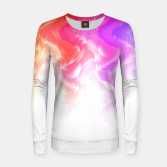 Thumbnail image of Rainbow smoke falling down, positive energy colorful pattern glitch Women sweater, Live Heroes