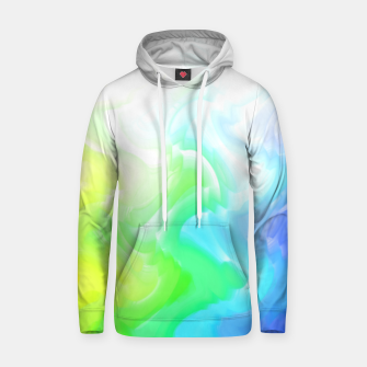 Thumbnail image of Rainbow smoke falling down, positive energy colorful pattern glitch Hoodie, Live Heroes