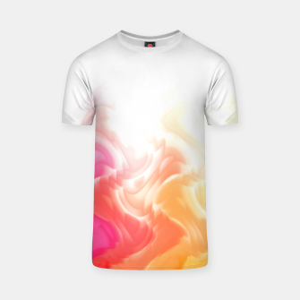 Thumbnail image of Rainbow smoke falling down, positive energy colorful pattern glitch T-shirt, Live Heroes