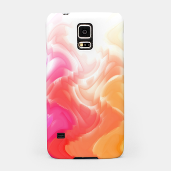 Thumbnail image of Rainbow smoke falling down, positive energy colorful pattern glitch Samsung Case, Live Heroes