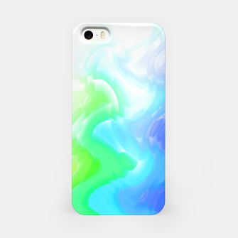 Thumbnail image of Rainbow smoke falling down, positive energy colorful pattern glitch iPhone Case, Live Heroes