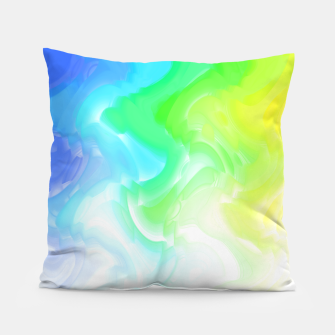 Thumbnail image of Rainbow smoke falling down, positive energy colorful pattern glitch Pillow, Live Heroes