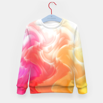 Thumbnail image of Rainbow smoke falling down, positive energy colorful pattern glitch Kid's sweater, Live Heroes