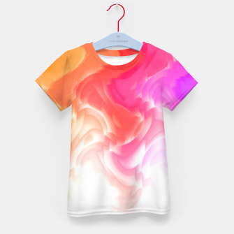Thumbnail image of Rainbow smoke falling down, positive energy colorful pattern glitch Kid's t-shirt, Live Heroes