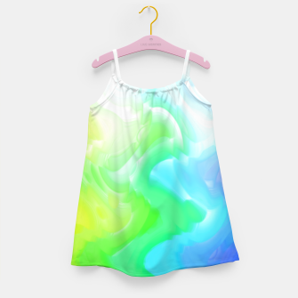 Thumbnail image of Rainbow smoke falling down, positive energy colorful pattern glitch Girl's dress, Live Heroes
