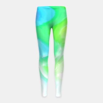 Thumbnail image of Rainbow smoke falling down, positive energy colorful pattern glitch Girl's leggings, Live Heroes