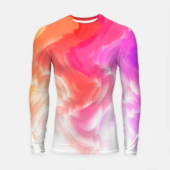Thumbnail image of Rainbow smoke falling down, positive energy colorful pattern glitch Longsleeve rashguard , Live Heroes