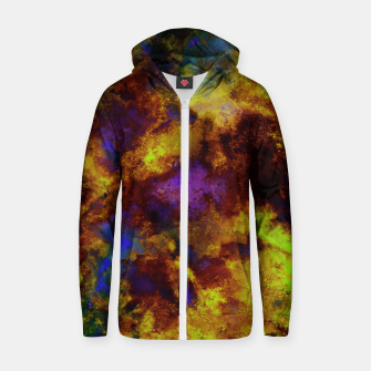 Thumbnail image of Background noise Zip up hoodie, Live Heroes