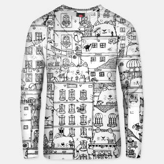Thumbnail image of City of Cats Unisex sweater, Live Heroes