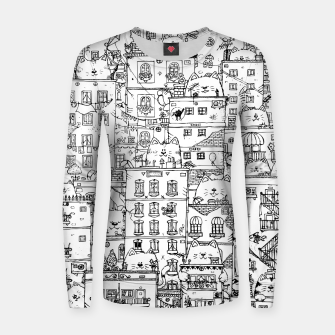 Thumbnail image of City of Cats Women sweater, Live Heroes