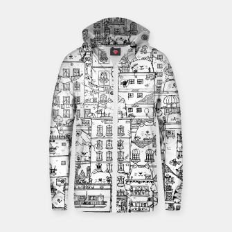 Thumbnail image of City of Cats Zip up hoodie, Live Heroes