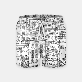 Thumbnail image of City of Cats Swim Shorts, Live Heroes