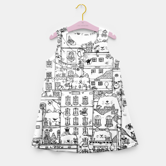 Thumbnail image of City of Cats Girl's summer dress, Live Heroes