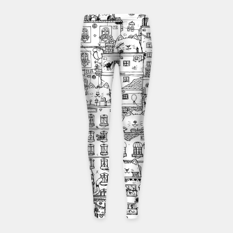 Thumbnail image of City of Cats Girl's leggings, Live Heroes